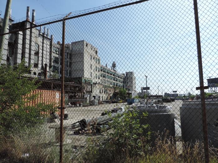 De verlaten Fisher Plant