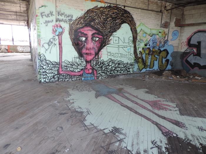 Een tweedimensionele graffito