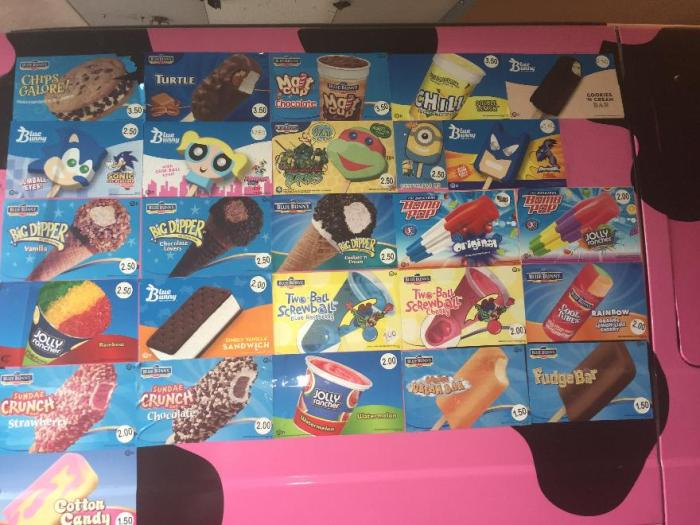 IJsjes van zomaar een ice cream truck