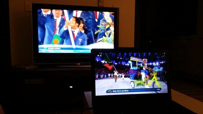 Openingsceremonie - de Amerikanen hadden twee uur vertraging in de uitzending!