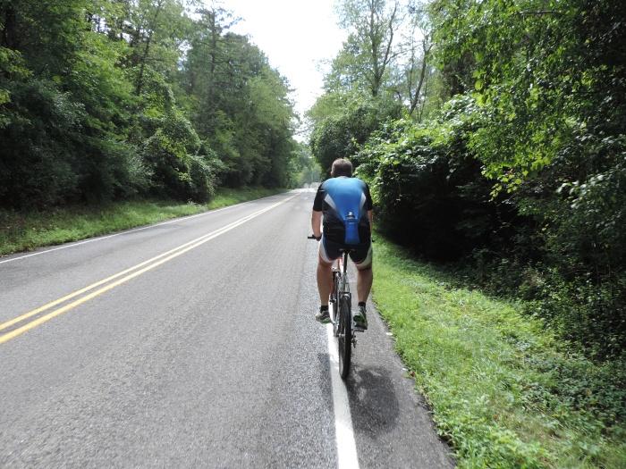 Michiel op de fiets
