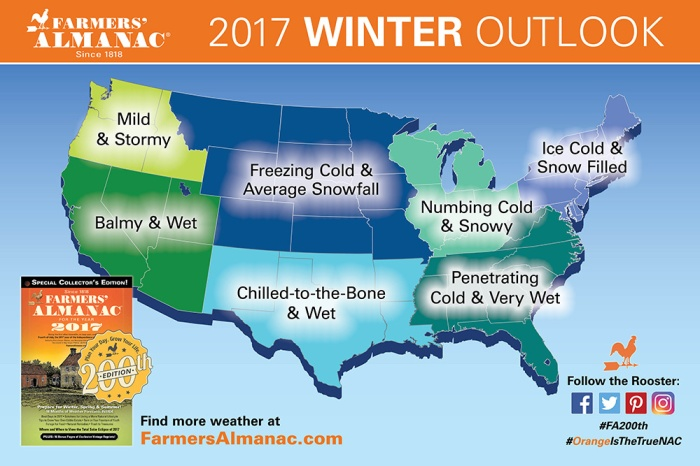 De weersvoorspelling voor de komende winter: brrr!