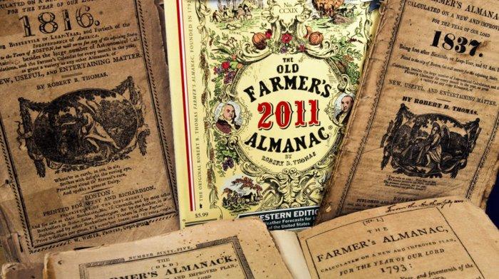 Oude Farmer's Almanac exemplaren