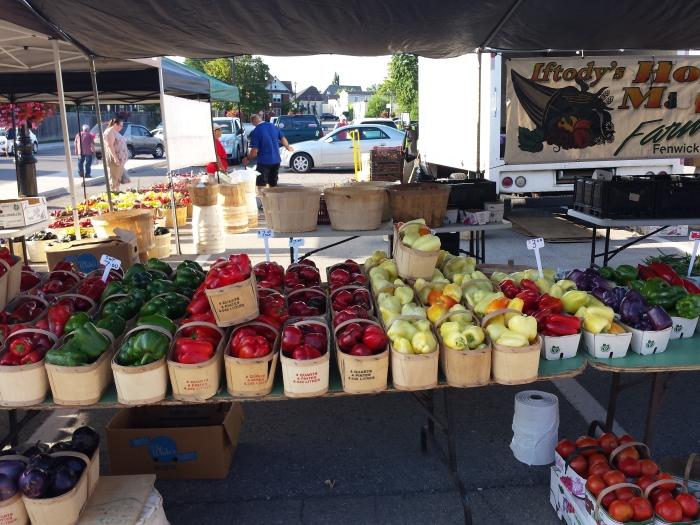 Farmer's market in Niagara (Canadese kant)