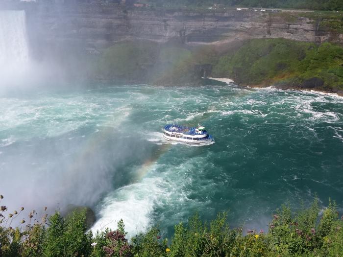 Niagara Falls - vanaf de Amerikaanse kant op Goat Island