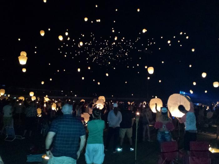 De hemel vol met Chinese lantaarns - prachtig mooi