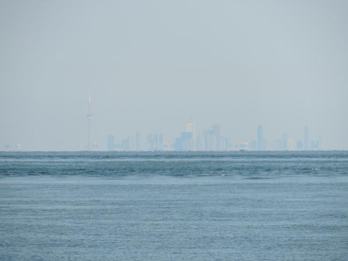 Toronto in de verte vanaf Niagara on the Lake