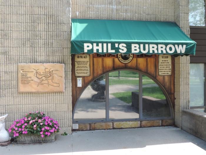 Hier woont Phil de Groundhog!