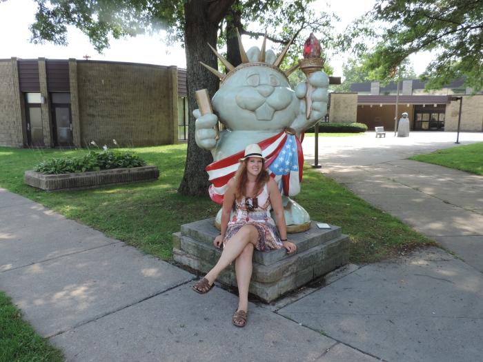 Lady Liberty als groundhog