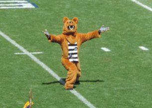 Onze mascotte - de Nittany Lion - een stuk vrolijker!