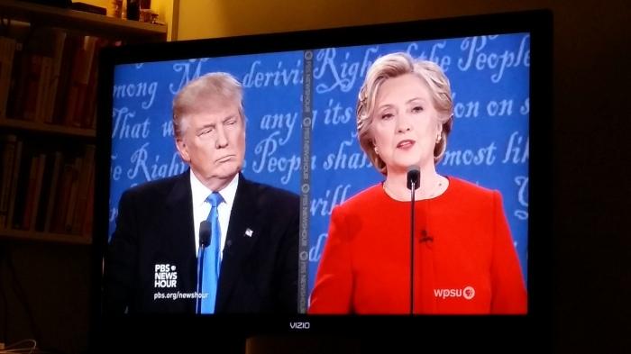 Het eerste, beschamende en tegelijkertijd lachwekkende debat