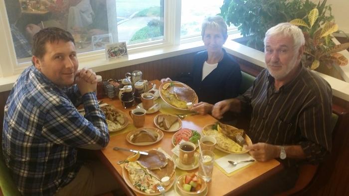 Bij de Waffle Shop op vrijdagochtend