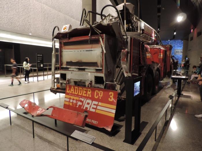 De brandweerwagen van Ladder 3