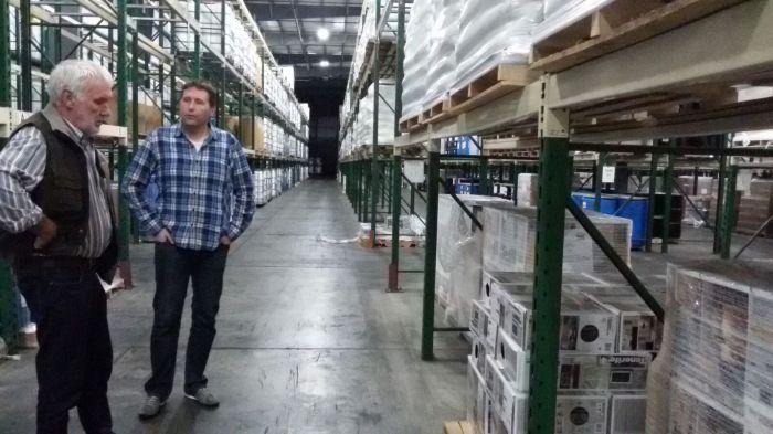 Bij het warehouse en distributiecentrum waar Michiels voorraad ligt