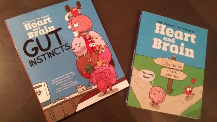 De twee stripboeken. Cadeautjes voor mezelf!