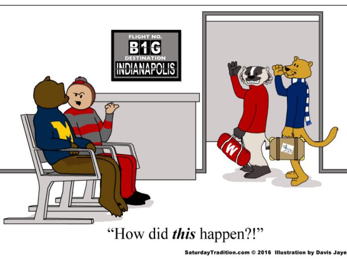 Wisconsin en Penn State strijden om het kampioenschap - ten koste van Michigan en Ohio State...