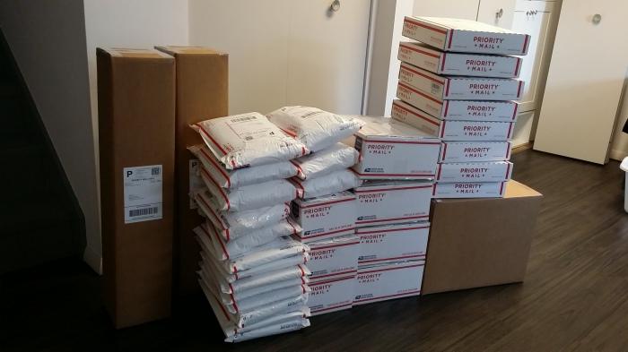 35 pakketjes... echt wel veel werk!